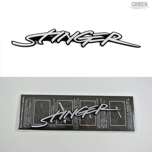 Griben Car Emblem Metal Sticker Silver Badge 70235 for Kia Stinger