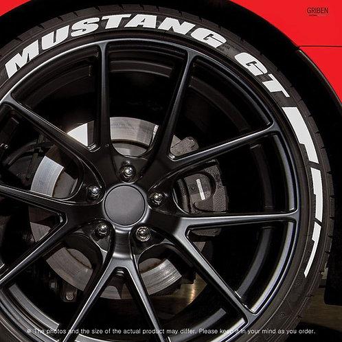 GRIBEN Tire Lettering Sticker Mustang GT TR011