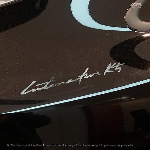 Griben 60375 Car Chrome Metal Sticker Pair Handwriting Lettering for Optima