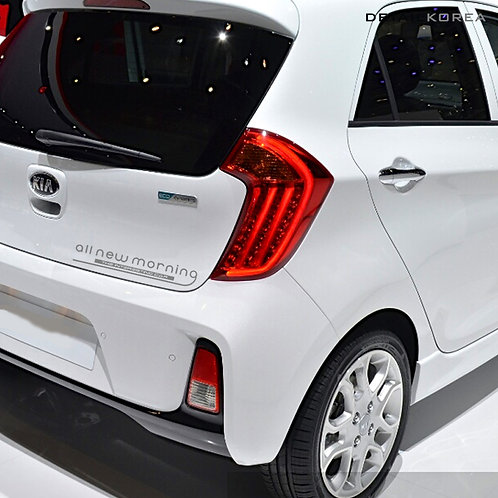 Detailkorea Car Name Slogan Decal Lettering Sticker for KIA Picanto