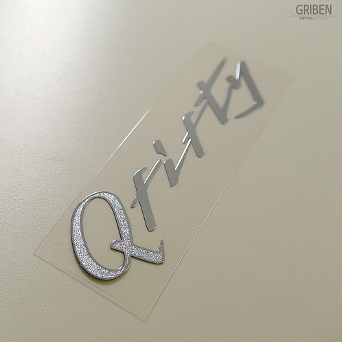 Griben Car Handwriting Chrome Metal Sticker Pair 60218 for Infiniti Q50