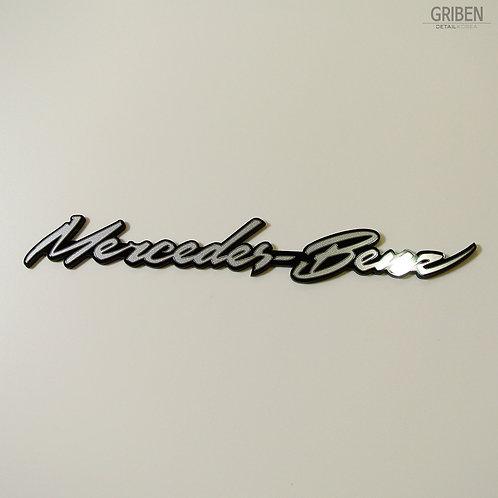 Griben Car Metal Sticker Matte Silver Emblem Badge 70059M Merc