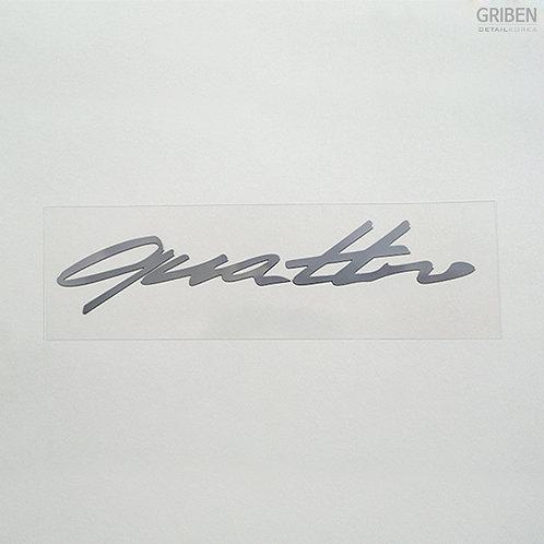 Griben Car Metal Sticker Silver Chrome Pair Small Decal 60138 for Audi Quattro