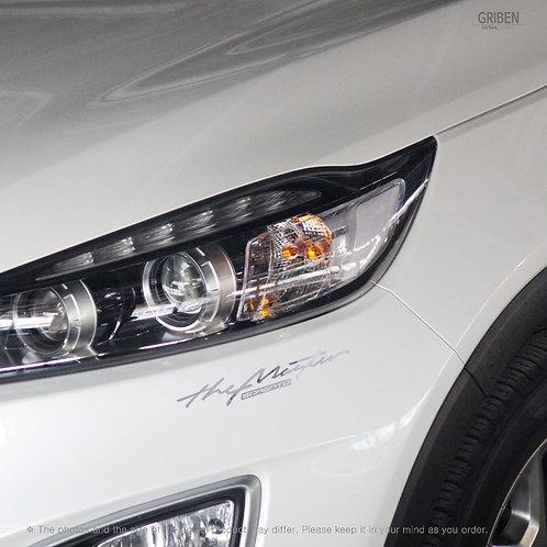 Griben Car Slogan Chrome Metal Sticker Pair 60328 for Kia Sorento