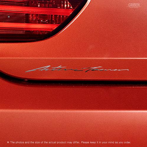 Griben Car Chrome Metal Sticker Pair 60350 Handwriting Lettering