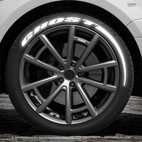 GRIBEN Tire Lettering Sticker GHOST TR027