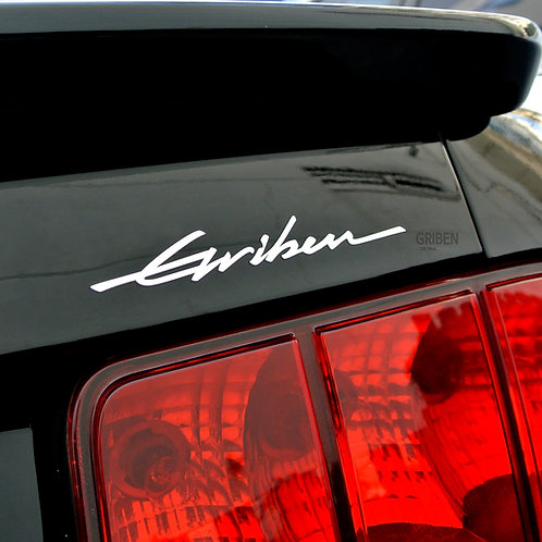 Griben Car Metal Sticker Gloss Chrome 60257 Decal for All Vehicles