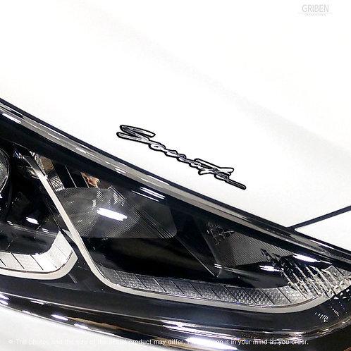 Griben Car Name Emblem Metal Chrome Small Badge 70310 for Hyundai Sonata
