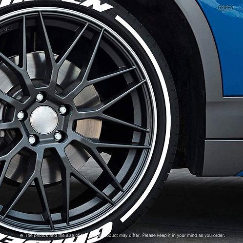 GRIBEN Tire Lettering Sticker Pattern line TR026F