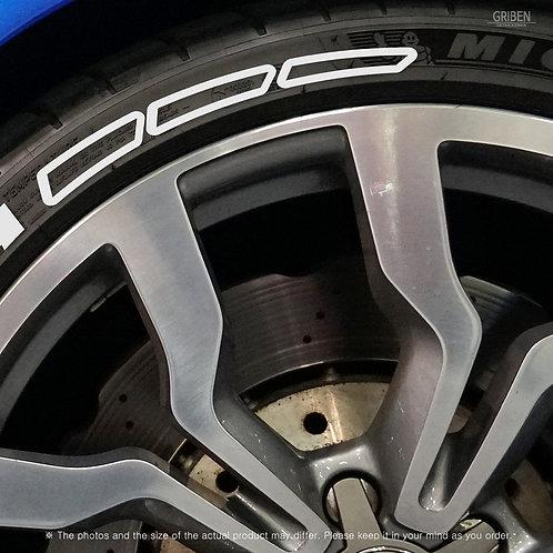 GRIBEN Tire Lettering Sticker Pattern line TR017E