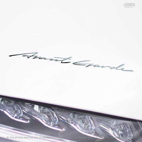 Griben Car Handwriting Chrome Metal Sticker Pair 60335 for Mercedes-Benz