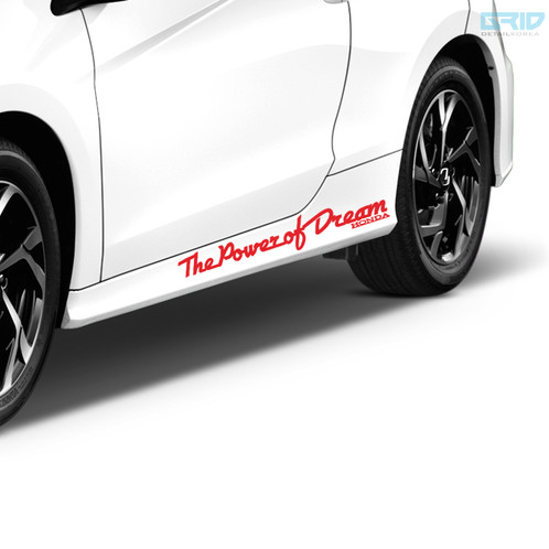 Detailkorea Car Slogan Lettering Decal Sticker For HONDA All Cars