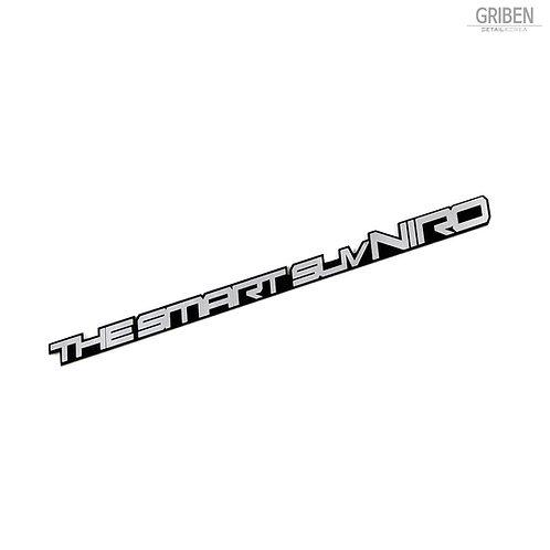Griben Car Emblem Slogan Chrome Metal Badge 70126 for Kia Niro