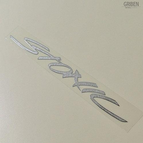 Griben Car Matte Chrome Metal Sticker Pair 60237 Handwriting Lettering