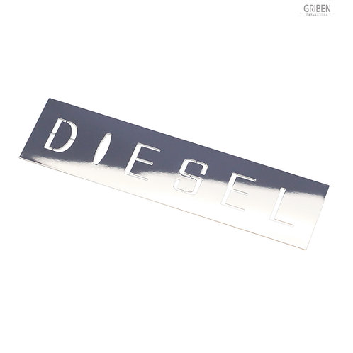 Griben Car Chrome Diesel Fuel Cover Metal Sticker Pair 60326 60327