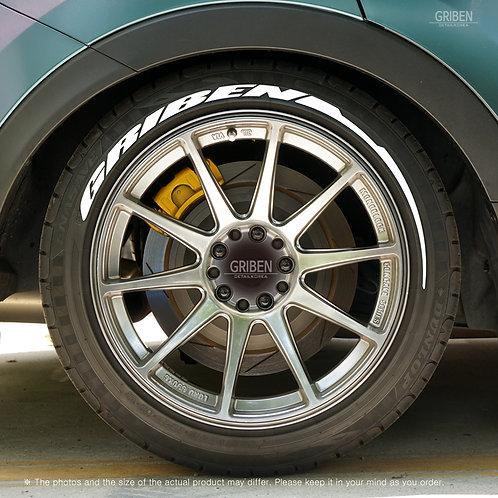 GRIBEN Car Tire Sticker Letters TR024A