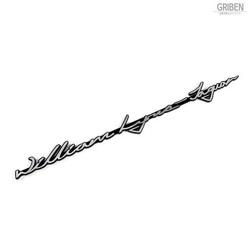 Griben Car Emblem Metal Chrome Slim Badge 70178A Founder Name for Jaguar