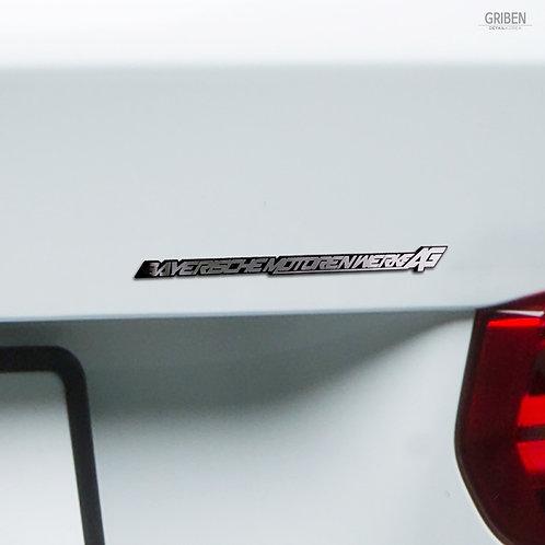 Griben Car Full Name Emblem Metal Chrome Slim Badge 70090 for BMW
