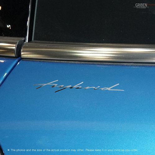 Griben Car Chrome Metal Sticker Pair 60261 Handwriting Lettering