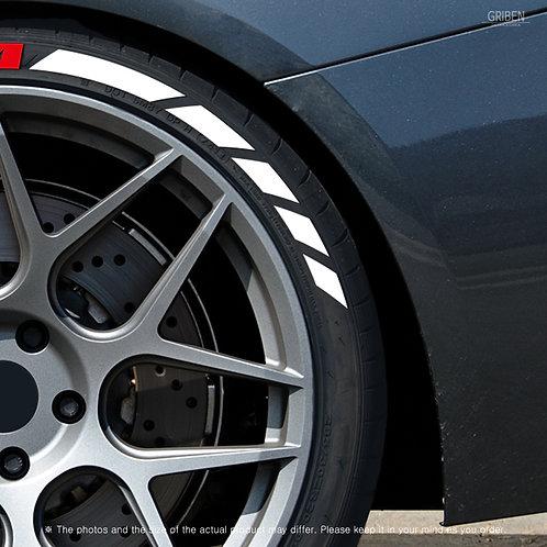 GRIBEN Tire Lettering Sticker Pattern line TR026D