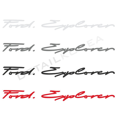 Car Slogan Decal Lettering Sticker for C-Type Ford Explorer