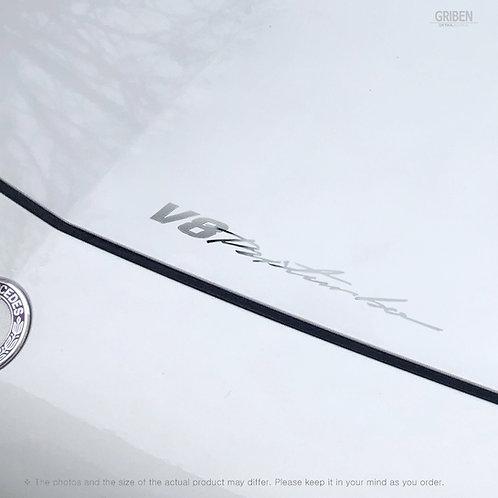 Griben Car Chrome Metal Sticker Pair 60355 Handwriting Lettering