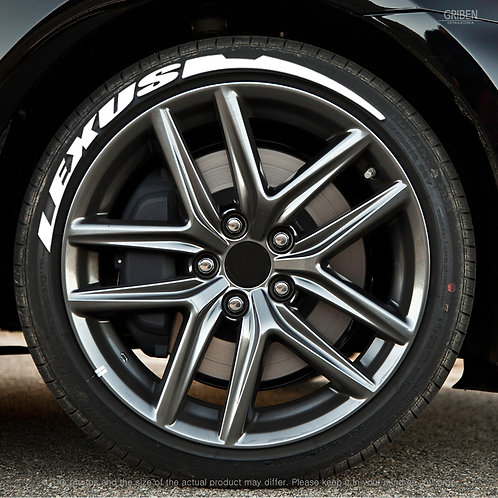 GRIBEN Tire Lettering Sticker (Fit : LEXUS) TR025B