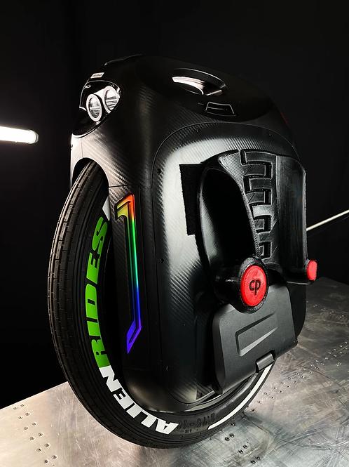 GRIBEN Alien Rides Tire Lettering Stickers