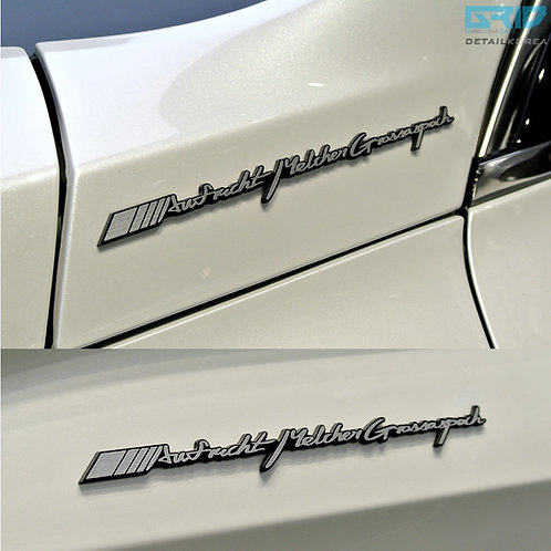 Griben Car Emblem Name Cursive Badge 30116 for Benz & AMG