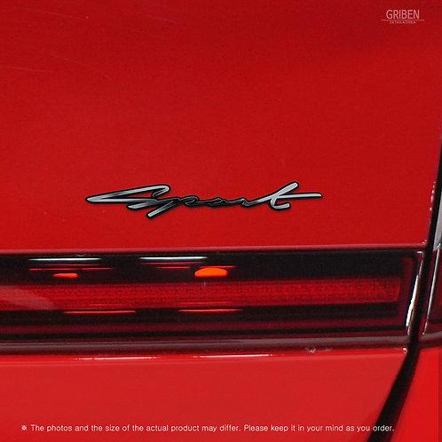 Griben 70369 Car Handwriting Sport Lettering Emblem Metal Chrome Badge