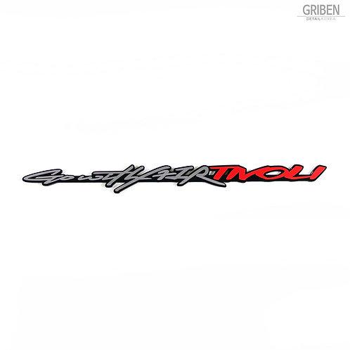 Griben Car Slogan Emblem Sliver Badge 30252 for Ssangyong XLV, Tivoli