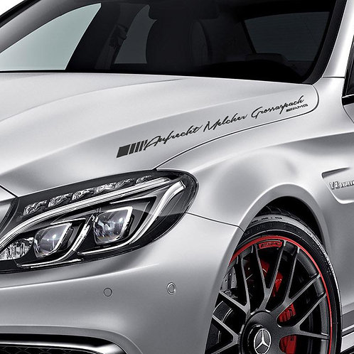 Car Full Name Decal Sticker (3 Size) for Mercedes-Benz & AMG