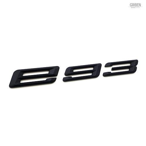 Griben E93 Code Name 3D Emblem Rough Matte Black Badge S009 for 3 Series