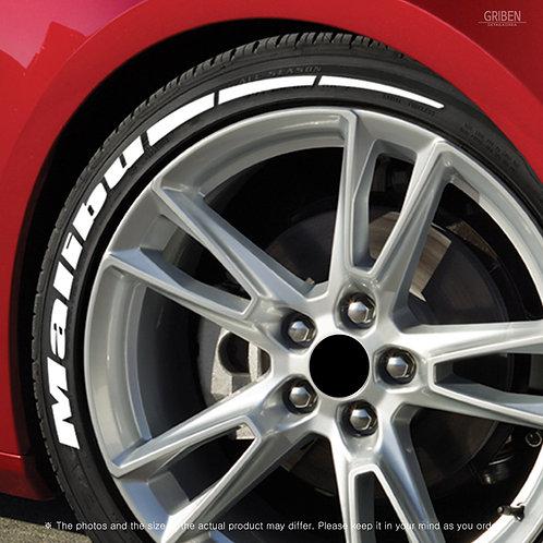 GRIBEN Tire Lettering Sticker Malibu TR031