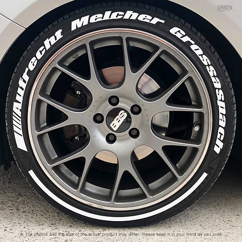 GRIBEN Tire Lettering Sticker Full Name (Fit:AMG) TR021