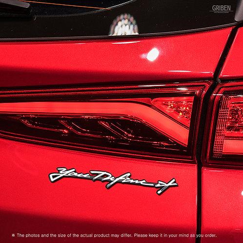 Griben Car Emblem Handwriting Metal Chrome Badge 70337 for Hyundai Kona