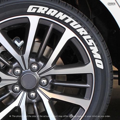 GRIBEN Tire Lettering Sticker GRAN TURISMO TR002