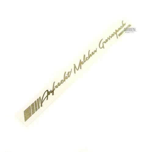 Griben Car Metal Sticker Pair Gold Chrome Decal 60057G for AMG & Mercedes-Benz