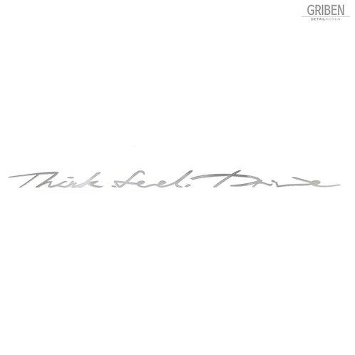 Griben Car Metal Sticker 60163 Pair Handwriting