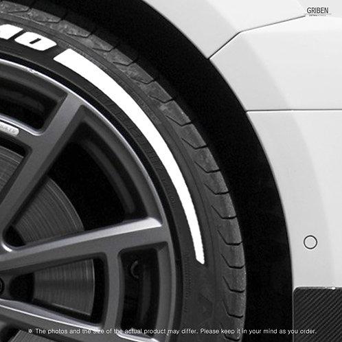 GRIBEN Tire Lettering Sticker Pattern line TR026B