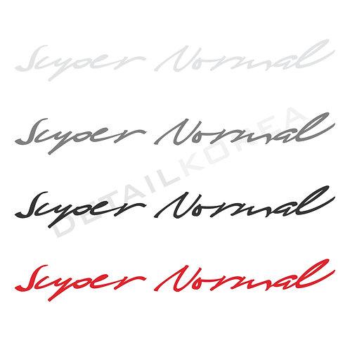 Detailkorea Car Lettering Decal Sticker for Hyundai Avante