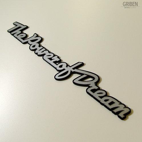Griben Car Metal Sticker Matte Silver Emblem Badge 70081M for HONDA