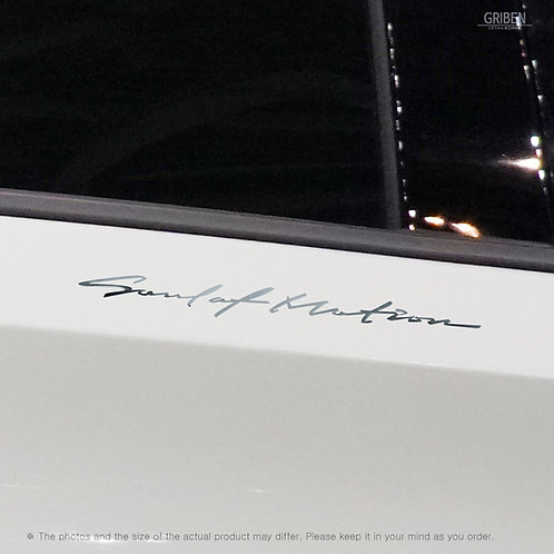 Griben 60373 Car Chrome Metal Sticker Pair Handwriting Lettering for Mazda