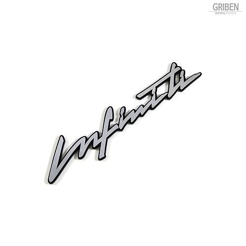 Griben Car Emblem Metal Sticker Pair Badge Chrome Silver 70216 for Infiniti