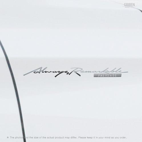 Griben Car Slogan Chrome Metal Sticker Pair 60341 Handwriting Lettering