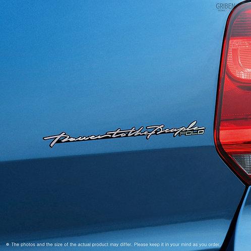 Griben Car Emblem Sliver Slogan Badge 30288 for Volkswagen Polo