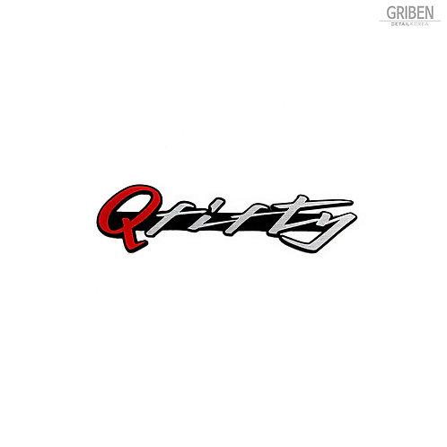 """Griben Q Fifty Car Emblem Red Sliver 4"""" Badge 30218 for Infiniti Q50"""