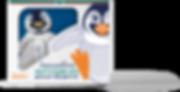 Gummy penguins multivitamins box by Amundsen