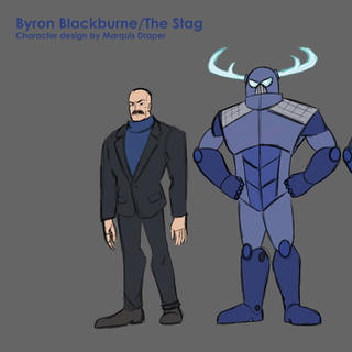Byron Blackburne/ The Stag Model Sheet