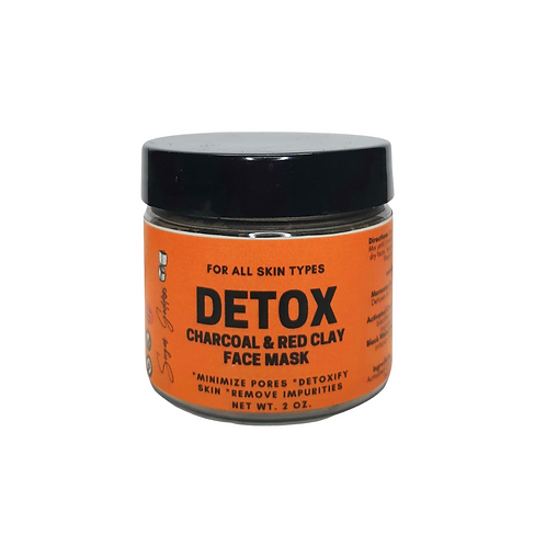 Detox Charcoal & Red Clay Face Mask